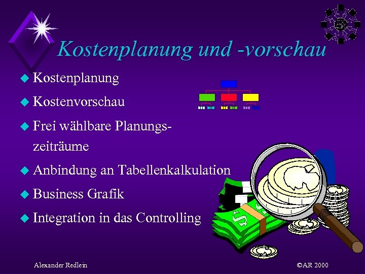Kostenplanung und -vorschau u Kostenplanung u Kostenvorschau u Frei wählbare Planungszeiträume u Anbindung u
