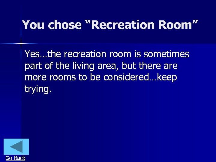 """You chose """"Recreation Room"""" Yes…the recreation room is sometimes part of the living area,"""