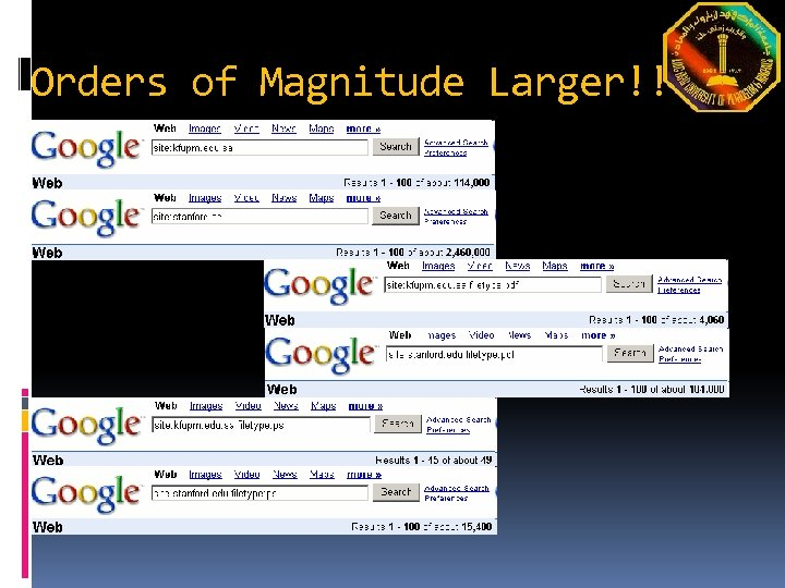 Orders of Magnitude Larger!!