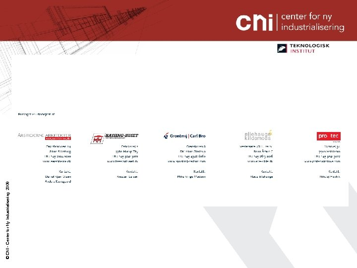 © CNI - Center for Ny Industrialisering 2008