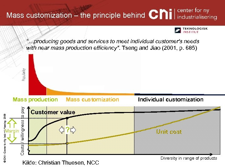 "Mass customization – the principle behind ""…producing goods and services to meet individual customer's"