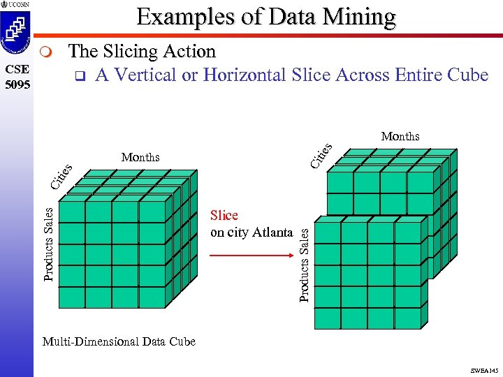 Examples of Data Mining The Slicing Action q A Vertical or Horizontal Slice Across