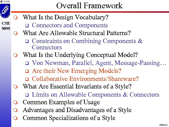 Overall Framework m CSE 5095 m m m What Is the Design Vocabulary? q