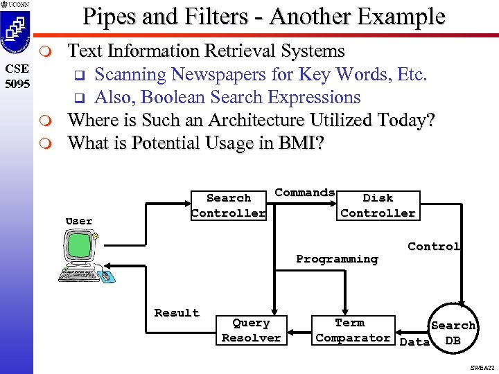 Pipes and Filters - Another Example m CSE 5095 m m Text Information Retrieval