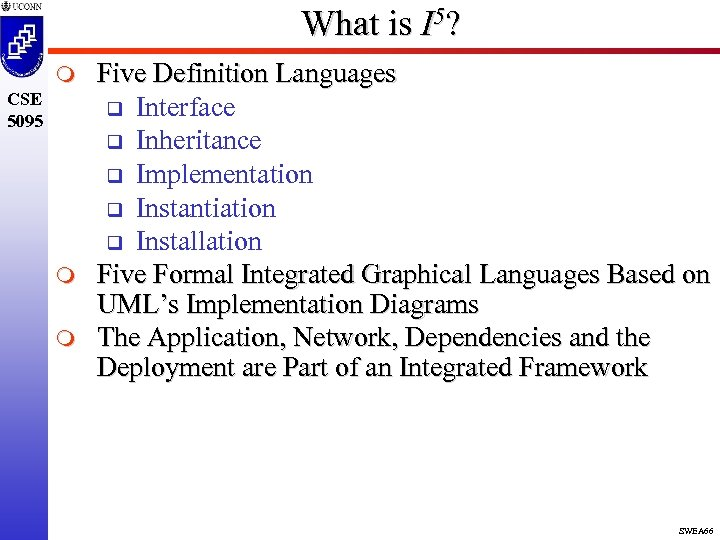 What is I 5? m CSE 5095 m m Five Definition Languages q Interface