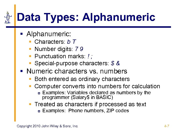 CHAPTER 4 Data Formats The Architecture of Computer