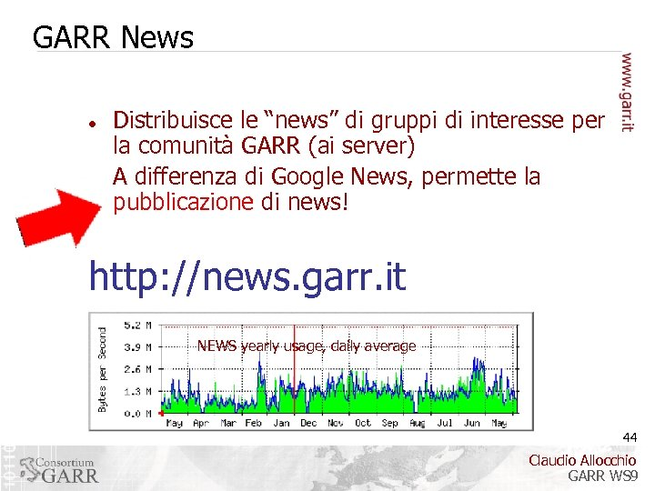 "GARR News Distribuisce le ""news"" di gruppi di interesse per la comunità GARR (ai"