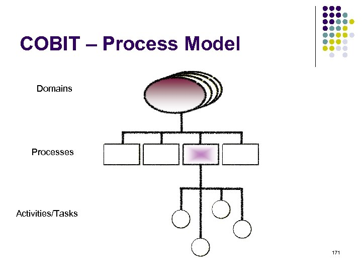 COBIT – Process Model Domains Processes Activities/Tasks 171