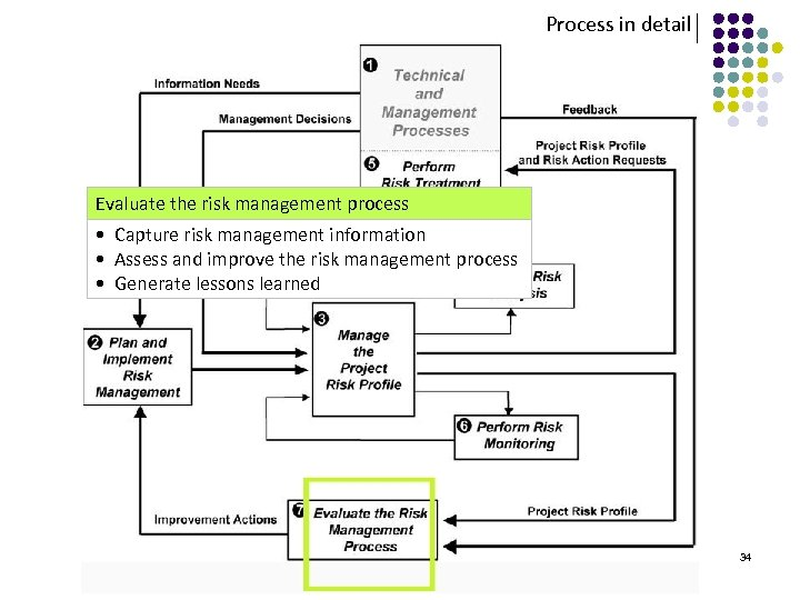 Process in detail Evaluate the risk management process • Capture risk management information •