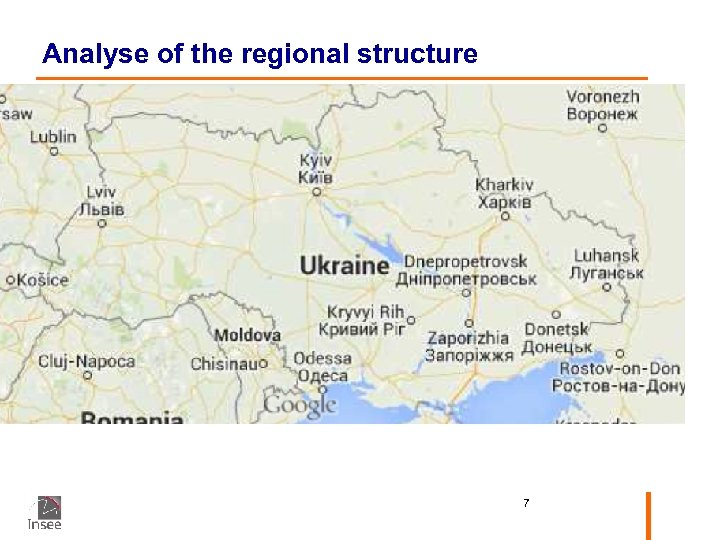Analyse of the regional structure 7