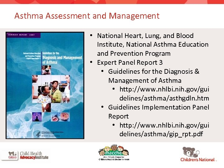 Asthma Assessment and Management • National Heart, Lung, and Blood Institute, National Asthma Education