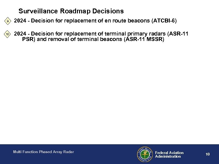 Surveillance Roadmap Decisions 9 10 2024 - Decision for replacement of en route beacons