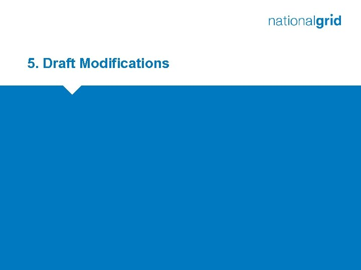5. Draft Modifications