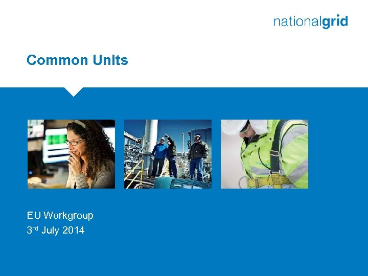 Common Units EU Workgroup 3 rd July 2014