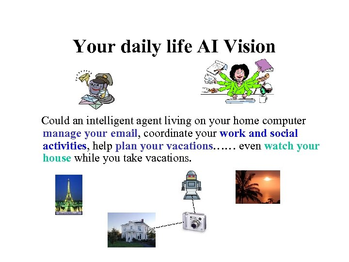 Your daily life AI Vision Could an intelligent agent living on your home computer