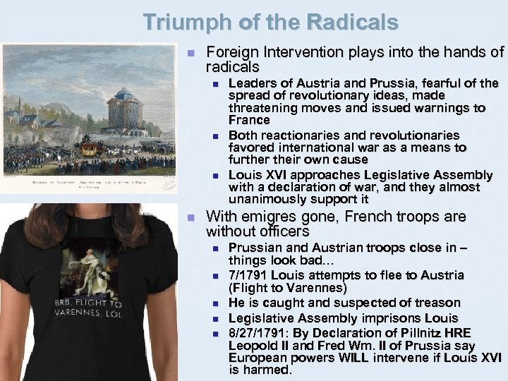 Triumph of the Radicals n Foreign Intervention plays into the hands of radicals n
