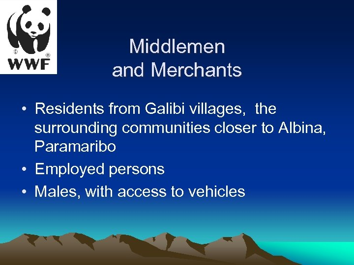 Middlemen and Merchants • Residents from Galibi villages, the surrounding communities closer to Albina,