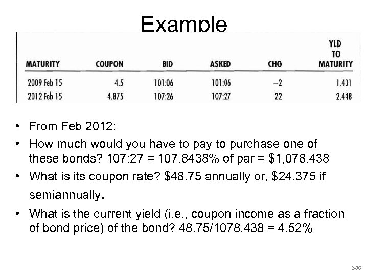 Example • From Feb 2012: • How much would you have to pay to