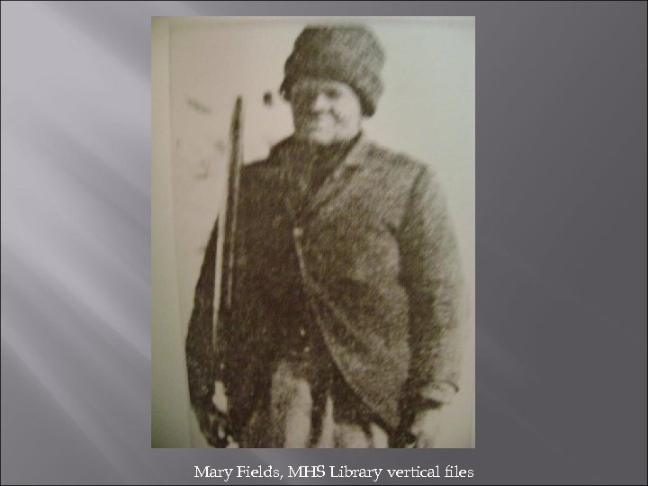 Mary Fields, MHS Library vertical files