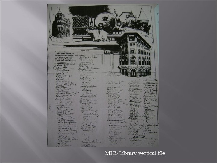 MHS Library vertical file