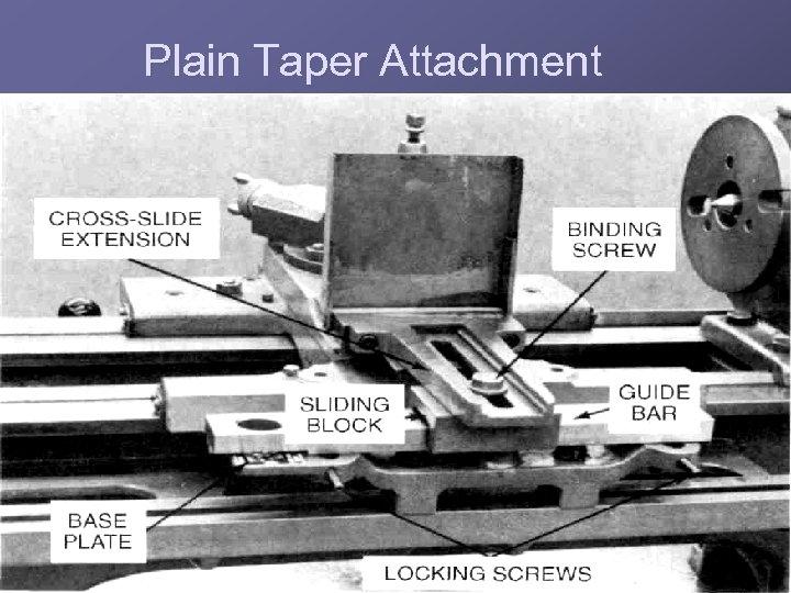 Plain Taper Attachment