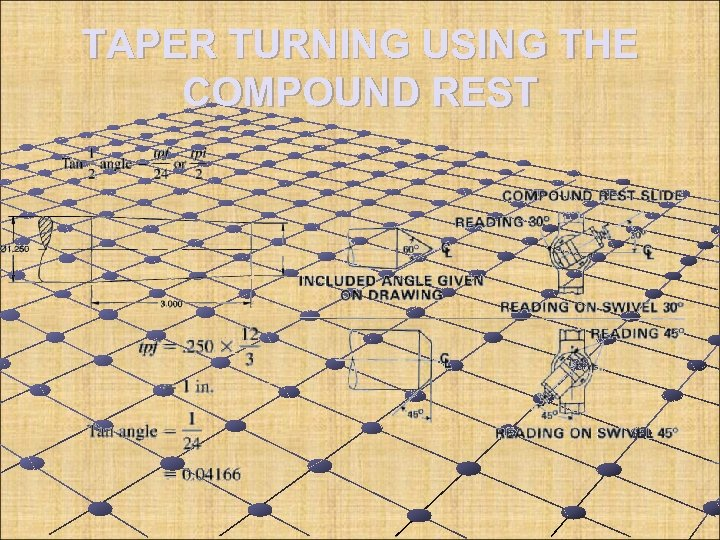 TAPER TURNING USING THE COMPOUND REST