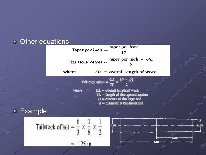 Other equations Example