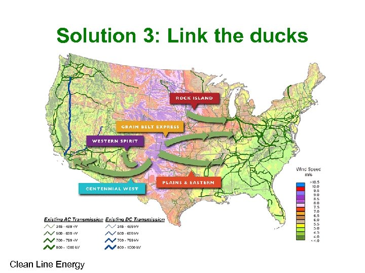 Solution 3: Link the ducks Clean Line Energy
