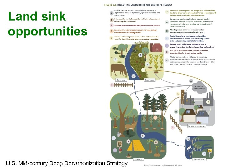 Land sink opportunities U. S. Mid-century Deep Decarbonization Strategy