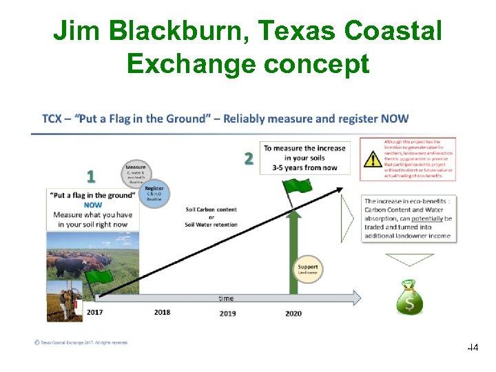 Jim Blackburn, Texas Coastal Exchange concept 44