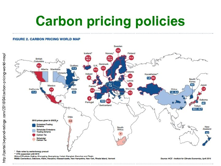 http: //portal. beyond-ratings. com/2016/04/carbon-pricing-world-map/ Carbon pricing policies 58