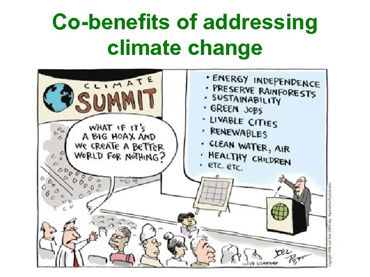 Co-benefits of addressing climate change