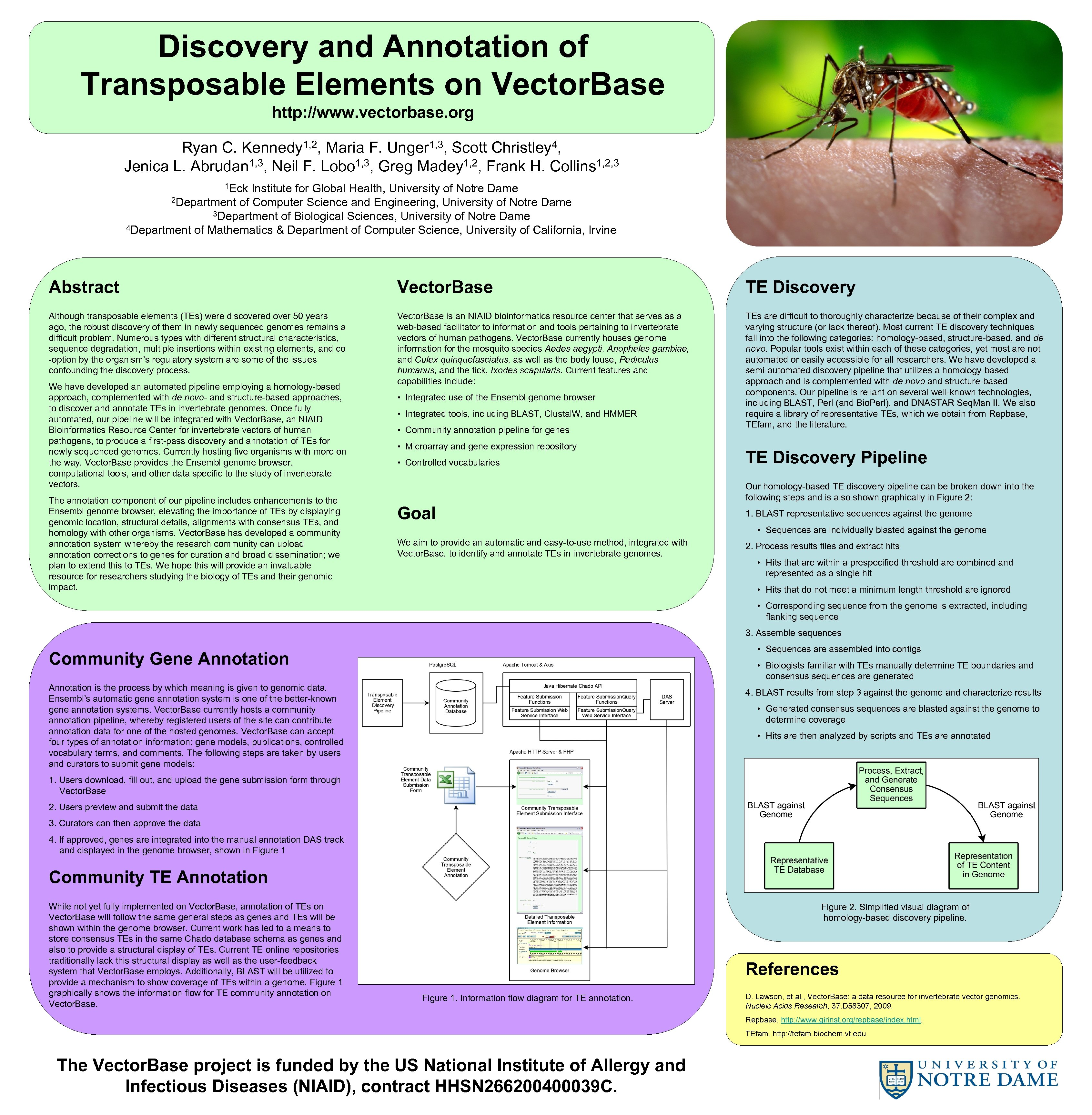 Discovery and Annotation of Transposable Elements on Vector. Base http: //www. vectorbase. org 1,