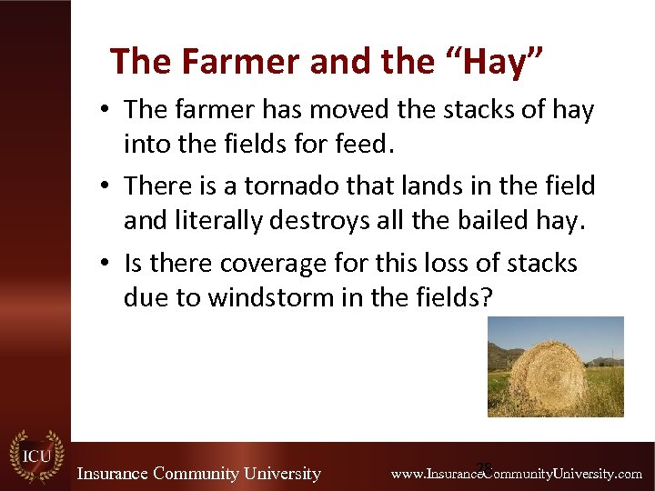 """The Farmer and the """"Hay"""" • The farmer has moved the stacks of hay"""