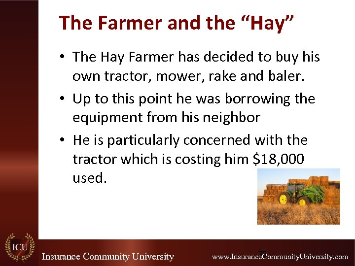 """The Farmer and the """"Hay"""" • The Hay Farmer has decided to buy his"""