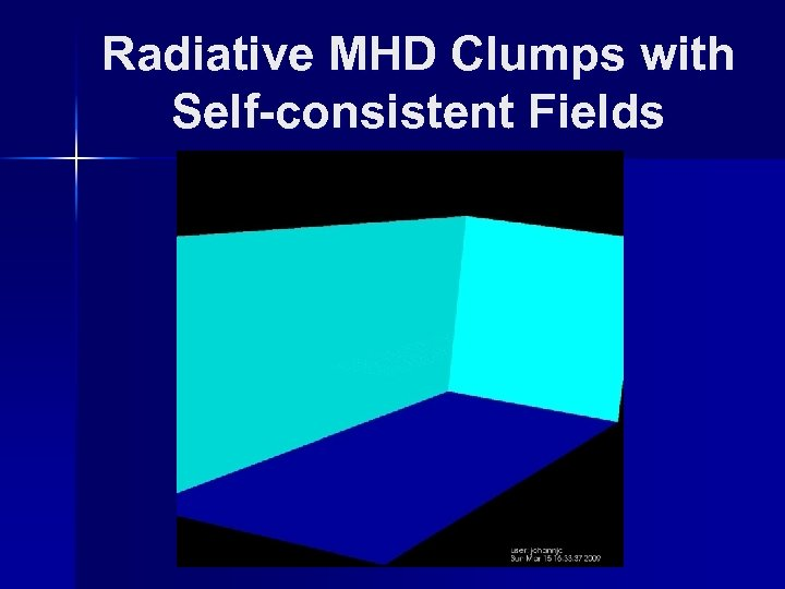 Radiative MHD Clumps with Self-consistent Fields