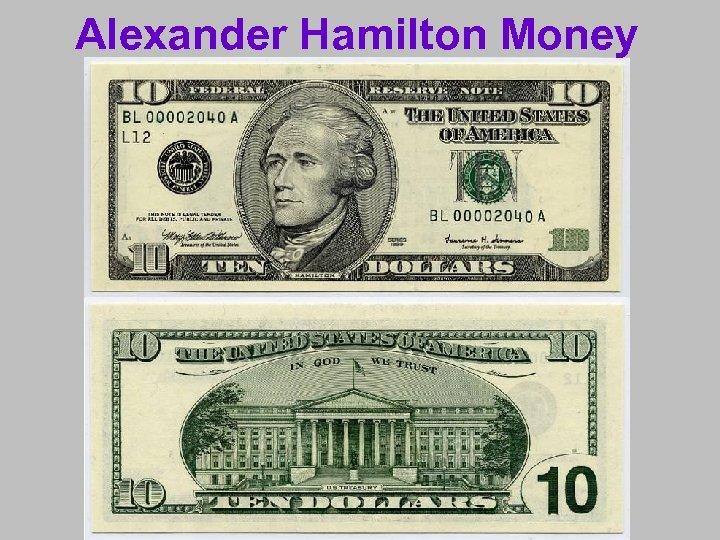 Alexander Hamilton Money