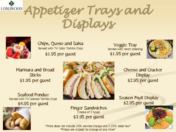 Appetizer Trays and Displays Chips, Queso and Salsa Served with Tri Color Tortilla Chips
