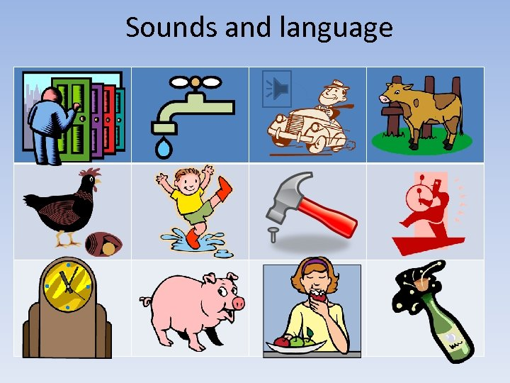 Sounds and language