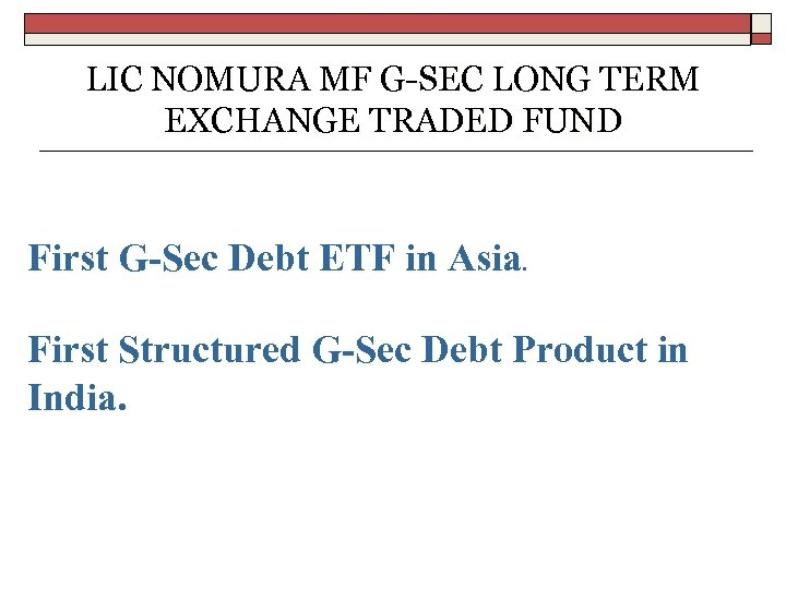 Exchange Traded Notes