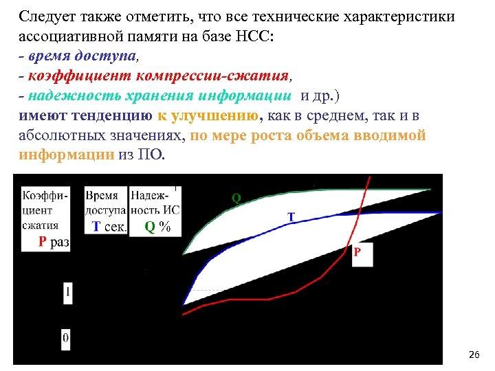 Следует также отметить, что все технические характеристики ассоциативной памяти на базе НСС: - время