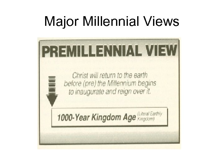 Major Millennial Views