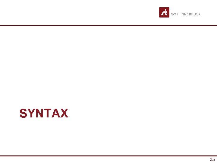 SYNTAX 35