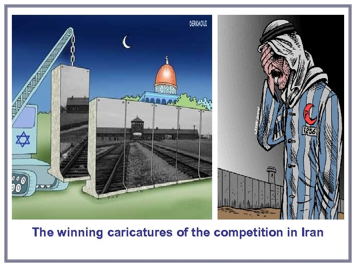 The winning caricatures of the competition in Iran