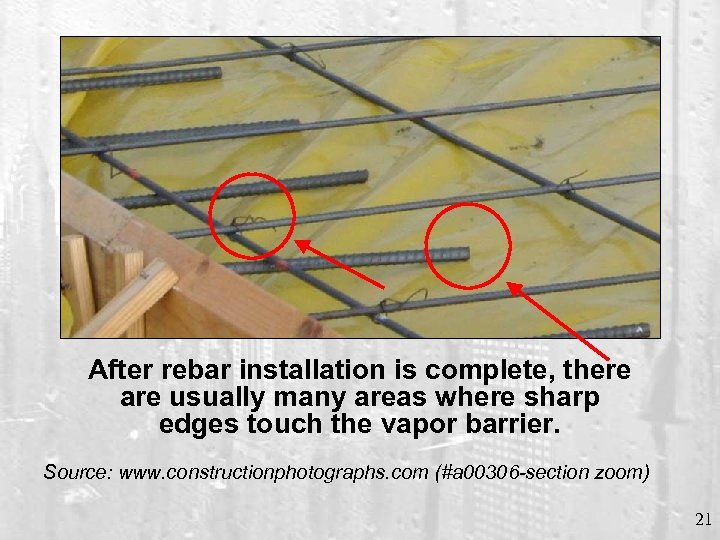 After rebar installation is complete, there are usually many areas where sharp edges touch