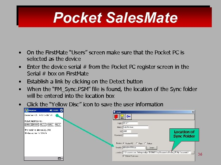 """Pocket Sales. Mate • • • On the First. Mate """"Users"""" screen make sure"""