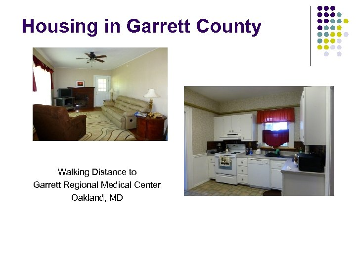 Housing in Garrett County Walking Distance to Garrett Regional Medical Center Oakland, MD
