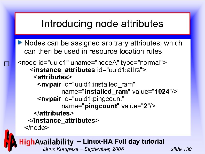 Introducing node attributes Nodes can be assigned arbitrary attributes, which can then be used