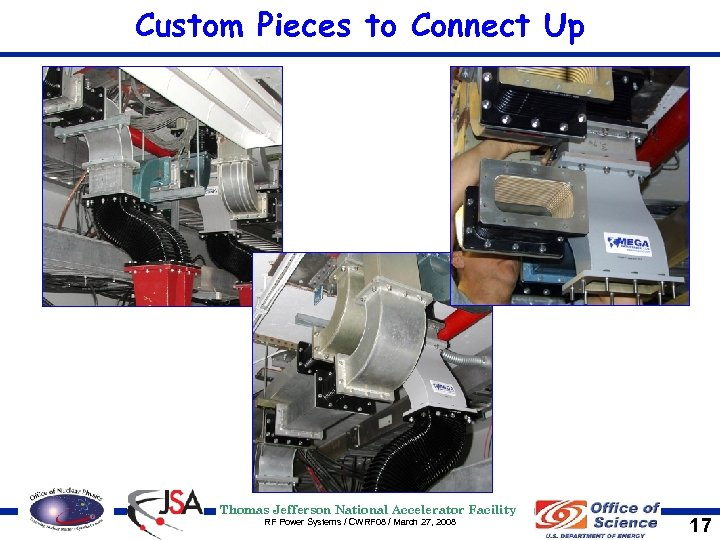 Custom Pieces to Connect Up Thomas Jefferson National Accelerator Facility RF Power Systems /