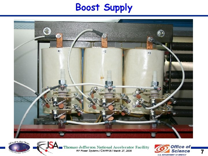Boost Supply Thomas Jefferson National Accelerator Facility RF Power Systems / CWRF 08 /